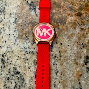 Pink and Rose Gold Michael Kors watch